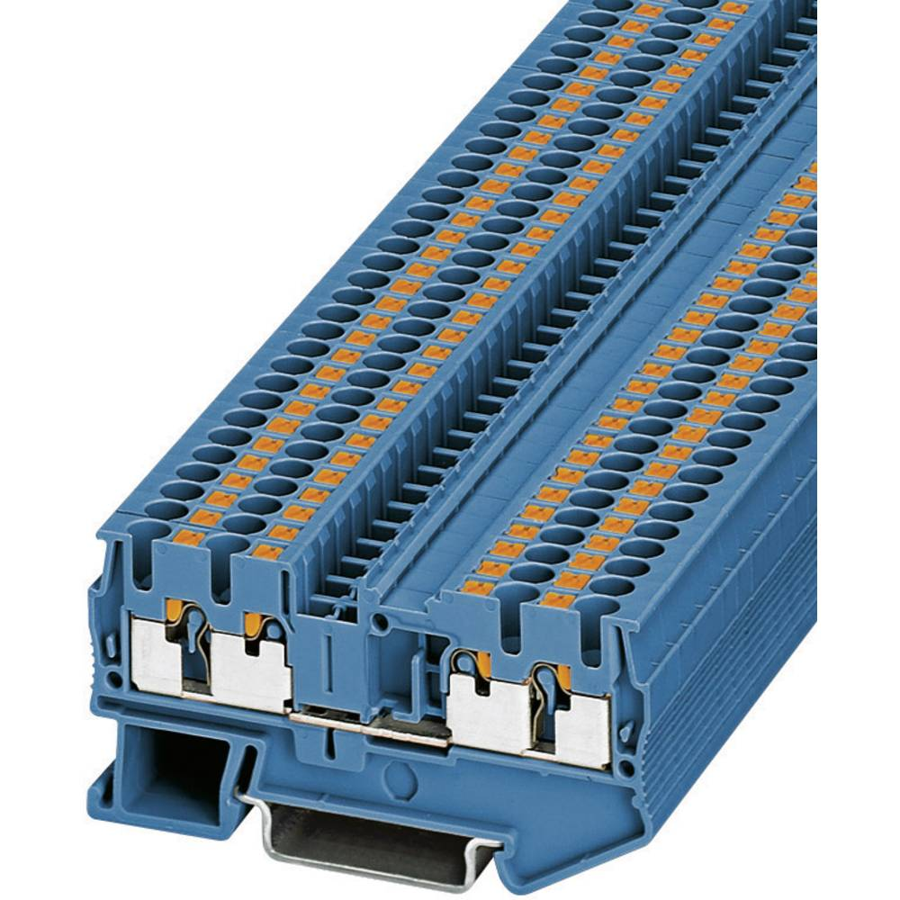 Push-In-firelederklemmer PT-QUATTRO PT 2,5-QUATTRO BU Phoenix Contact Blå Indhold: 1 stk