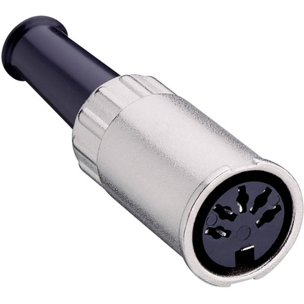 DIN- okrogli ženski konektor, raven št.polov: 3 srebrn Lumberg 0122 03 1 kos