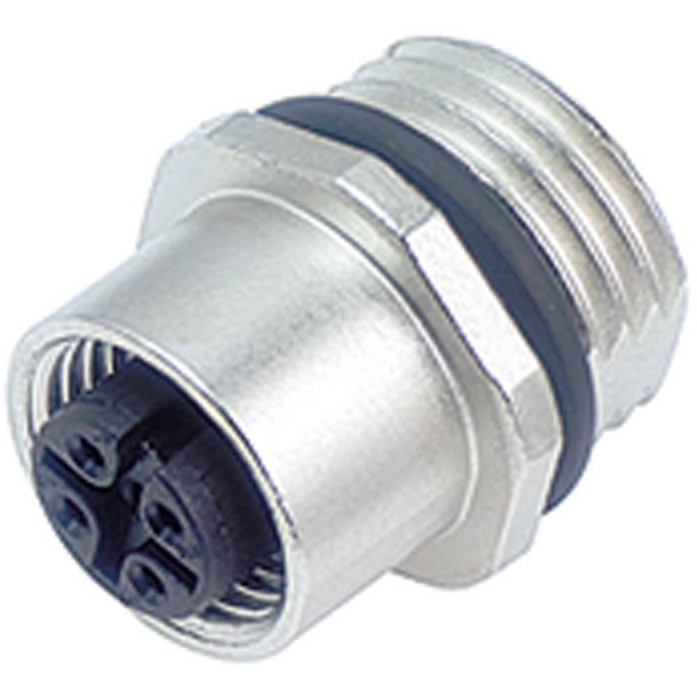Aktuatorsko-senzorski vtični konektorM12, navojno zapiralo, raven 763-09-3432-578-04 Binder