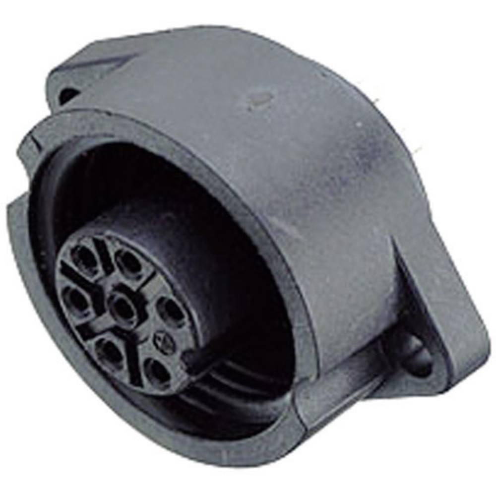 Standardni okrogli konektor Binder serije 692, 09-0216-00-07, naz. tok: 10 A, poli: 6 + PE