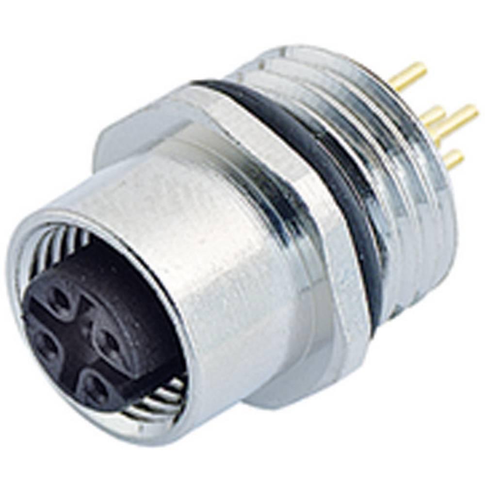 Aktuatorsko-senzorski vtični konektor M12, raven, z navojem 763-09-3442-88-05 Binder