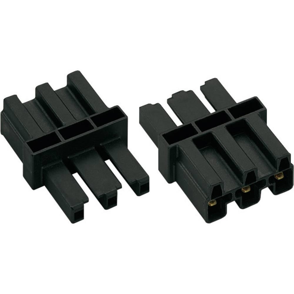Strømadapter WAGO Samlet poltal 2 + PE Sort 1 stk
