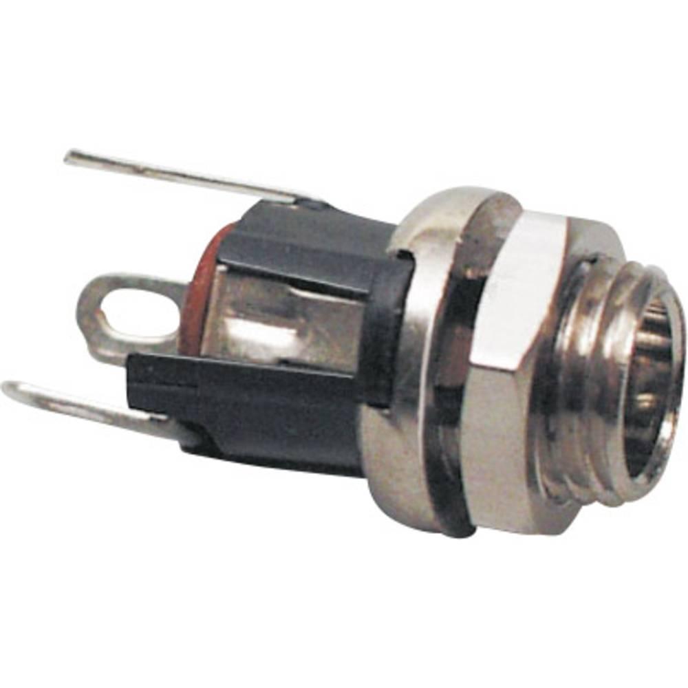 Lavspændingsstik Tilslutning, indbygning lodret 5.5 mm 2.5 mm BKL Electronic 072336 1 stk