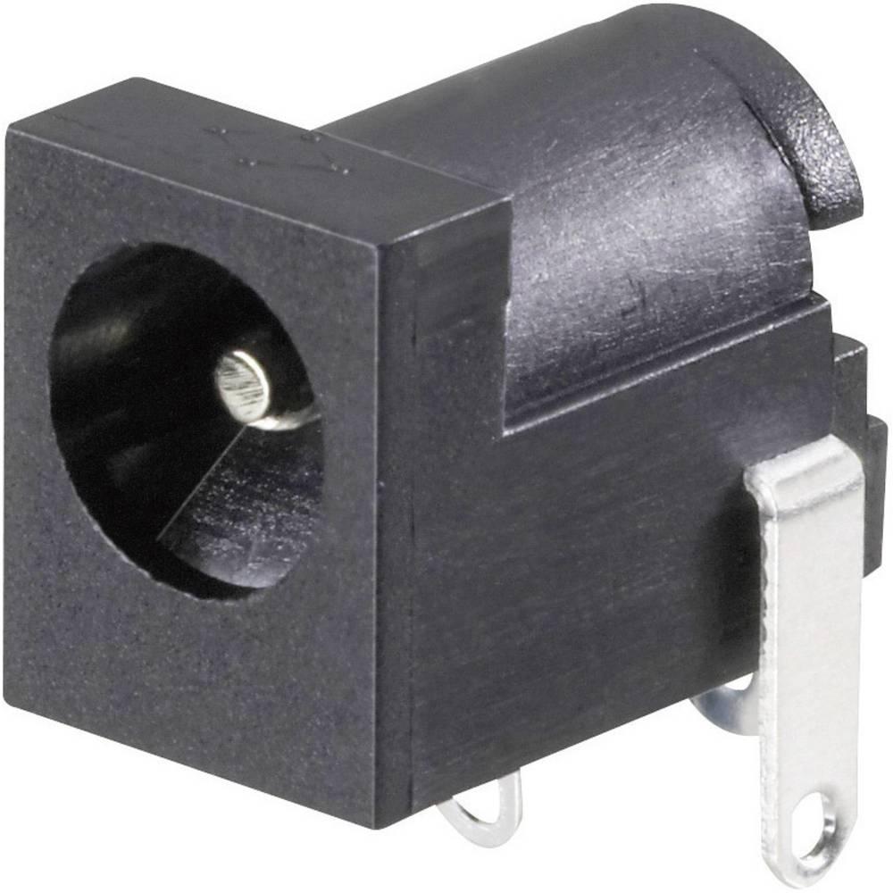 Lavspændingsstik Tilslutning, indbygning vandret 6.3 mm 2.5 mm Conrad Components 1 stk