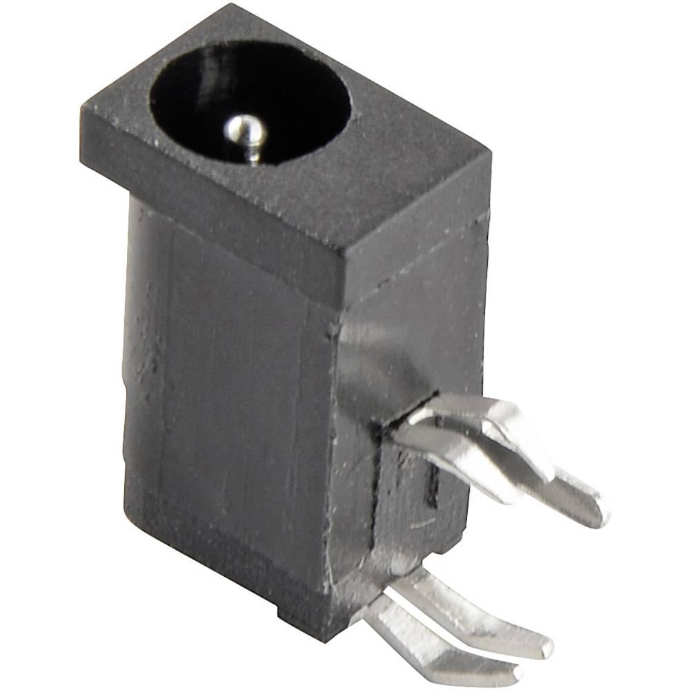 Lavspændingsstik Tilslutning, indbygning vandret 4.2 mm 1.1 mm Conrad Components 1 stk