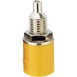 Laboratorijska utičnica, promjer kontakta: 4 mm žute boje TRU Components 1 kom.