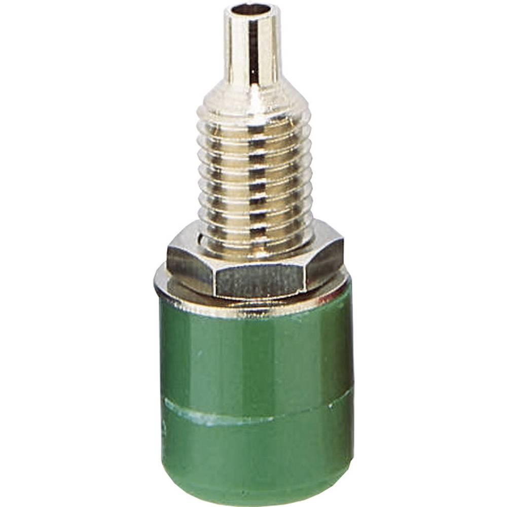 Laboratorietilslutning Tilslutning, indbygning lodret BKL Electronic 072309 4 mm Grøn 1 stk