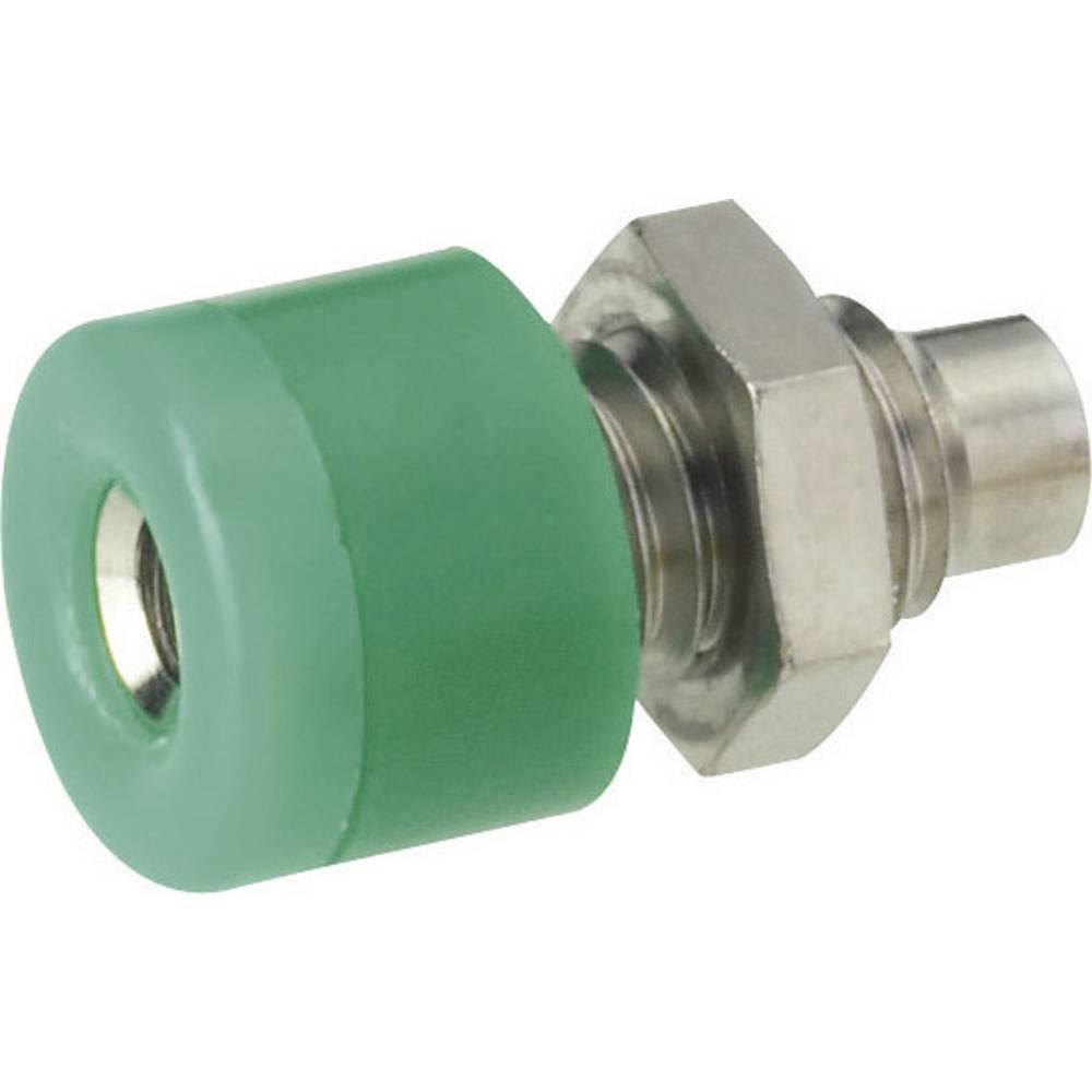 Miniaturelaboratorie-tilslutning Tilslutning, indbygning lodret Schnepp 2.6 mm Grøn 1 stk