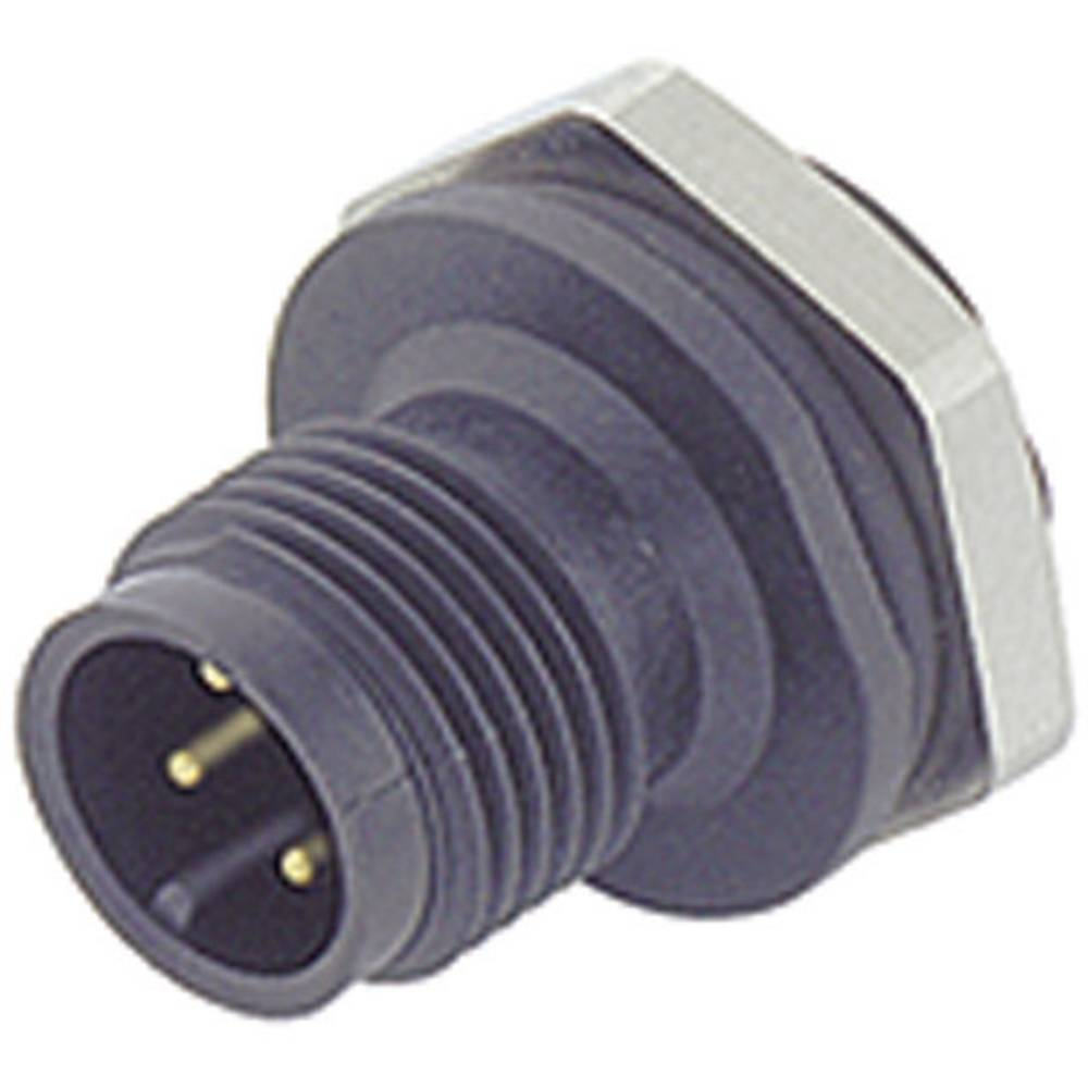 Aktuatorsko-senzorski vtični konektor M12, navojno zapiralo, raven 713-09-0431-87-04 Binder