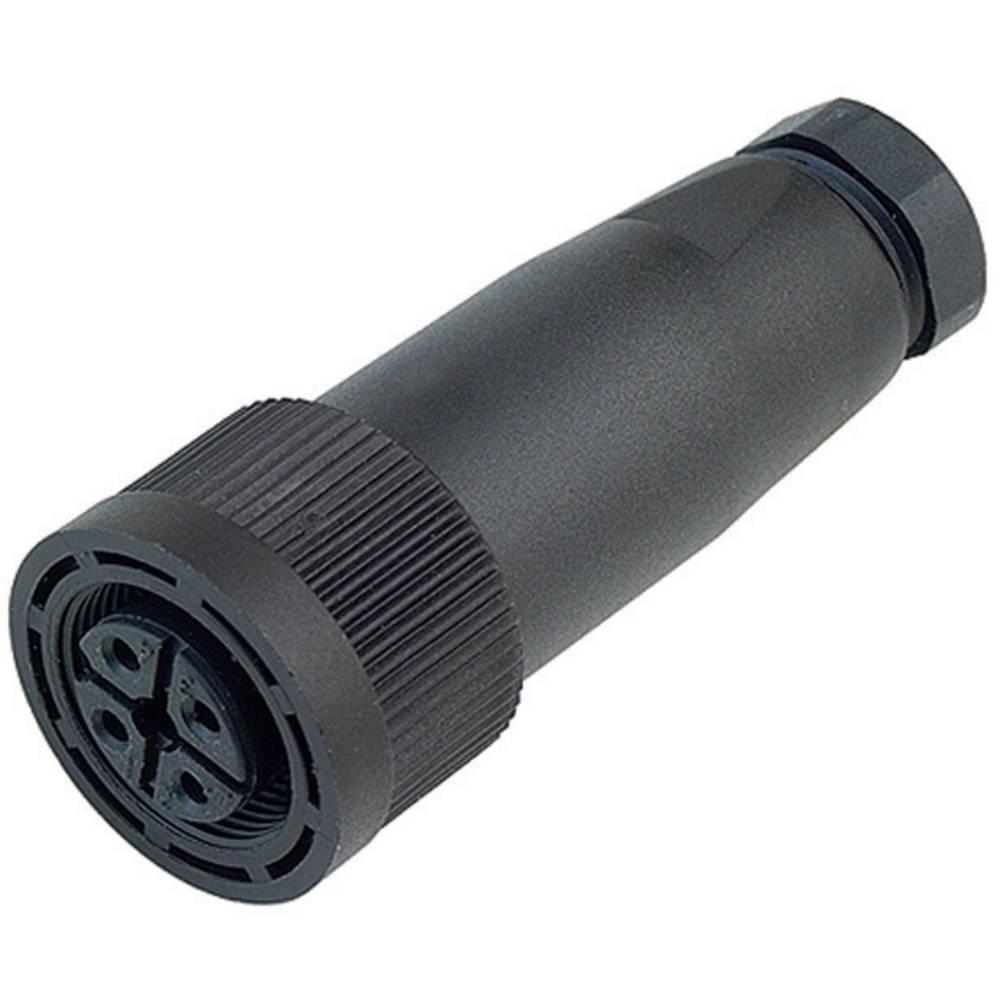 Aktuatorsko-senzorski vtični konektor M18, raven z navojem714-99-0440-16-04 Binder