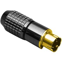 Miniaturni-DIN-okrogli konektor-vtič, raven št.polov: 8 črn BKL Electronic 0204022 1 kos