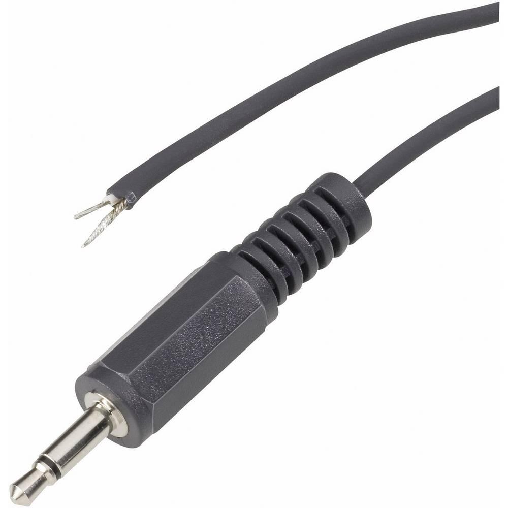 Klinken vtični konektor 3.5 mm vtič, raven število polov: 3 Stereo črne barveVOLTCRAFT XL-AC35SG 1 kos