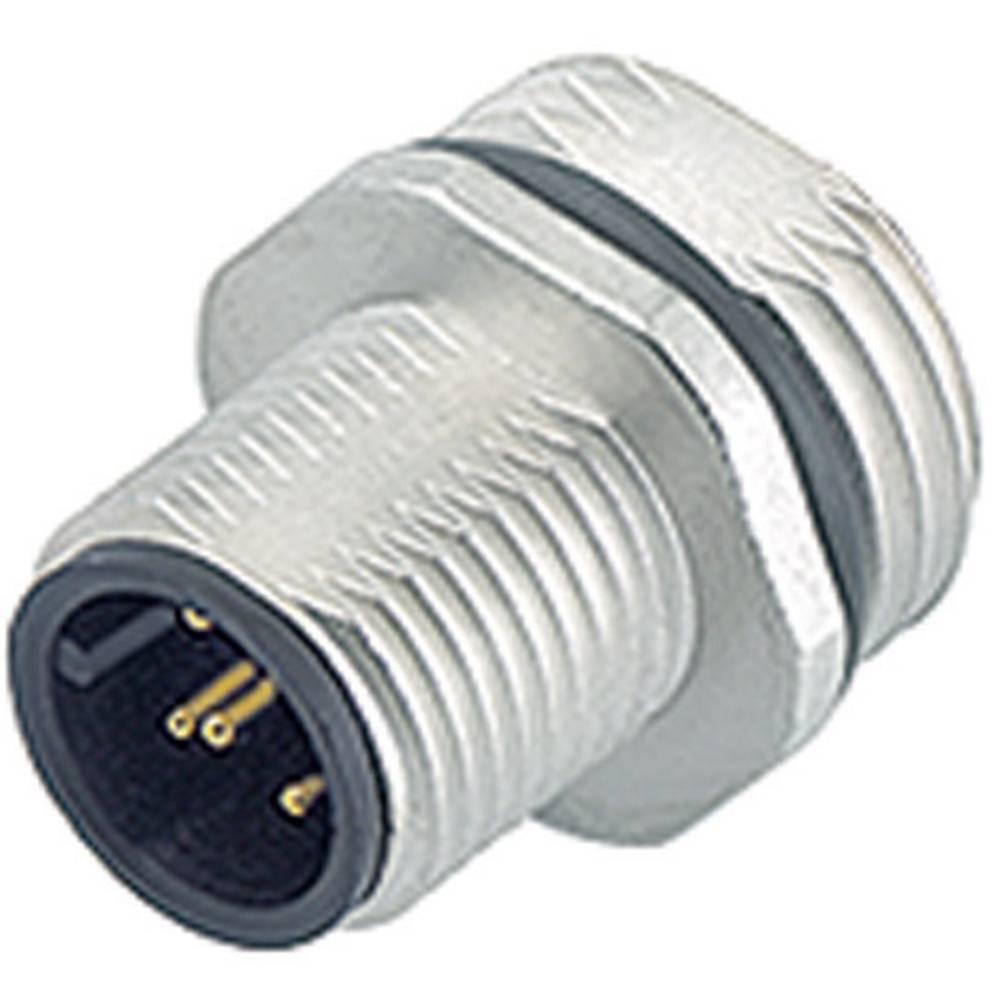 Aktuatorsko-senzorski vtični konektor M12, raven, z navojem 763-09-3441-578-05 Binder