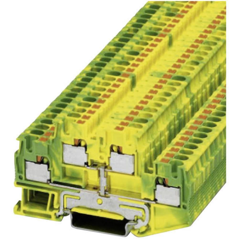 Push-in double-jordet leder klemme PTTB-PE Phoenix Contact PTTB 4-PE Grøn-gul 1 stk