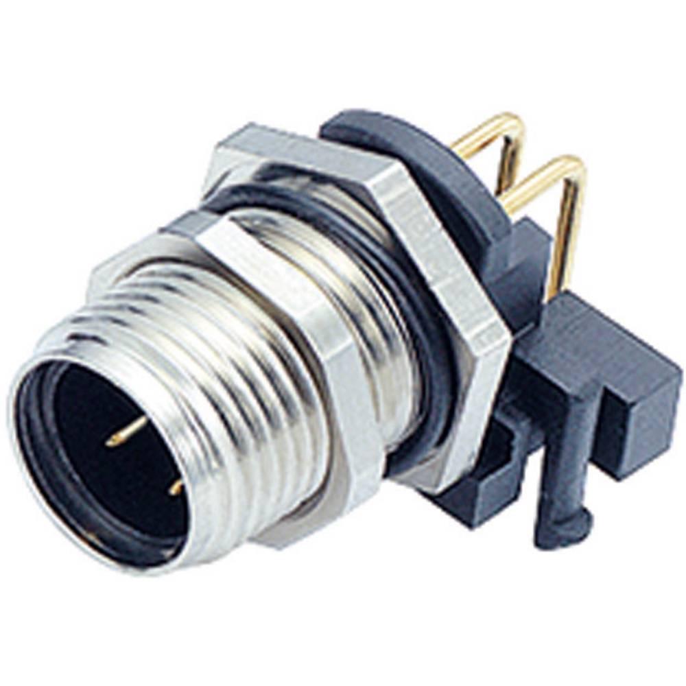 Konektor za senzorje/aktuatorje Binder 99-3431-202-04, M12, navojno zapiralo, kotni, poli: 4