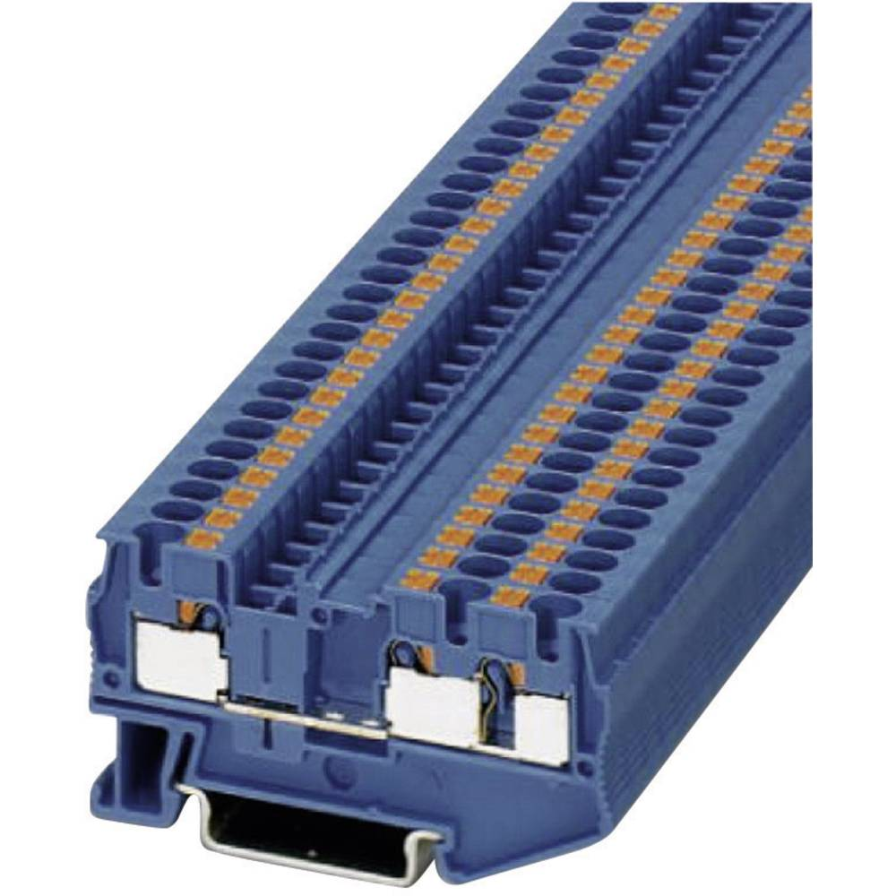 Push-i tre-wire terminaler PT-TWIN PT 4-TWIN BU Phoenix Contact Blå Indhold: 1 stk
