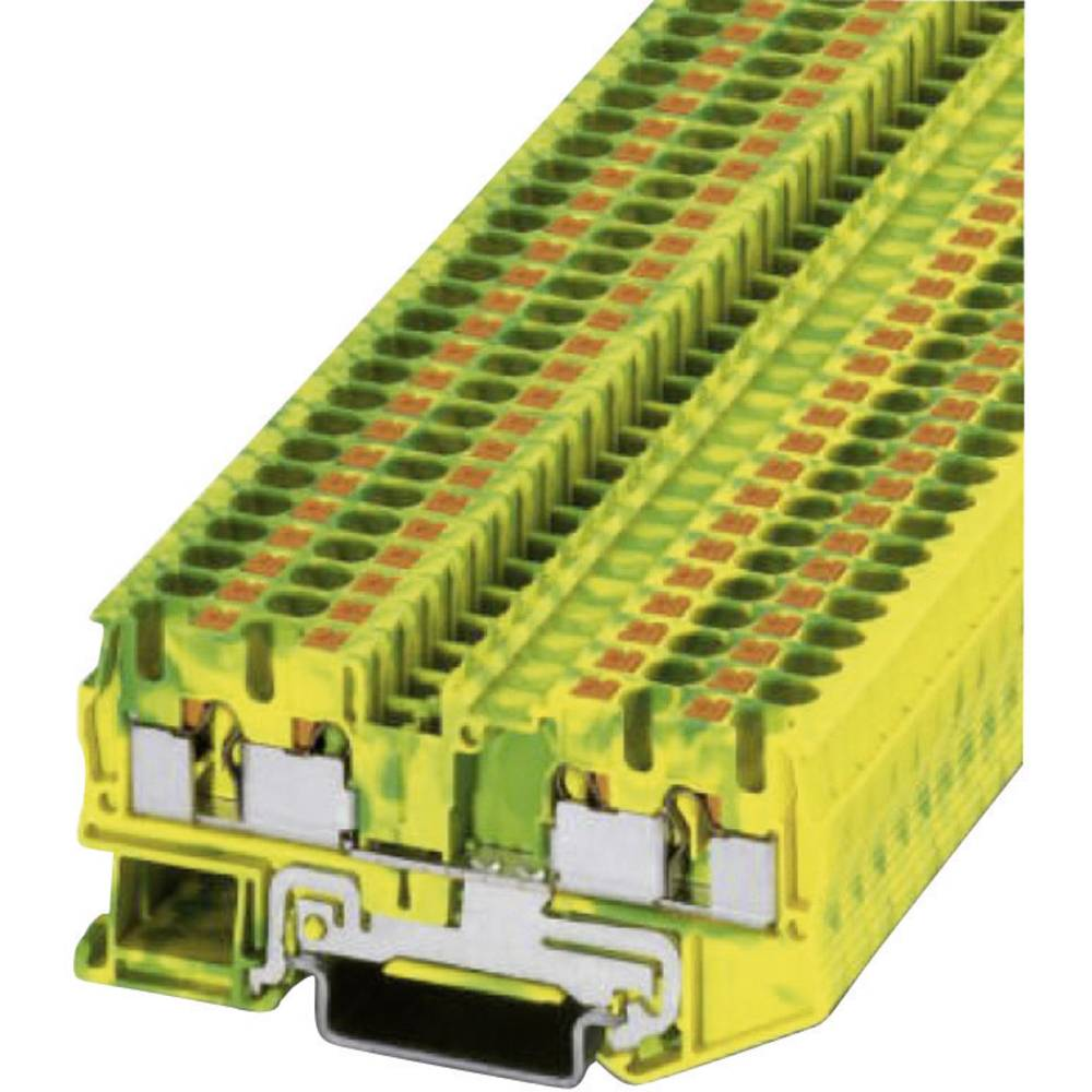 Push-in beskyttelsesleder terminal PT-PE Phoenix Contact PT 4-QUATTRO-PE Grøn-gul 1 stk