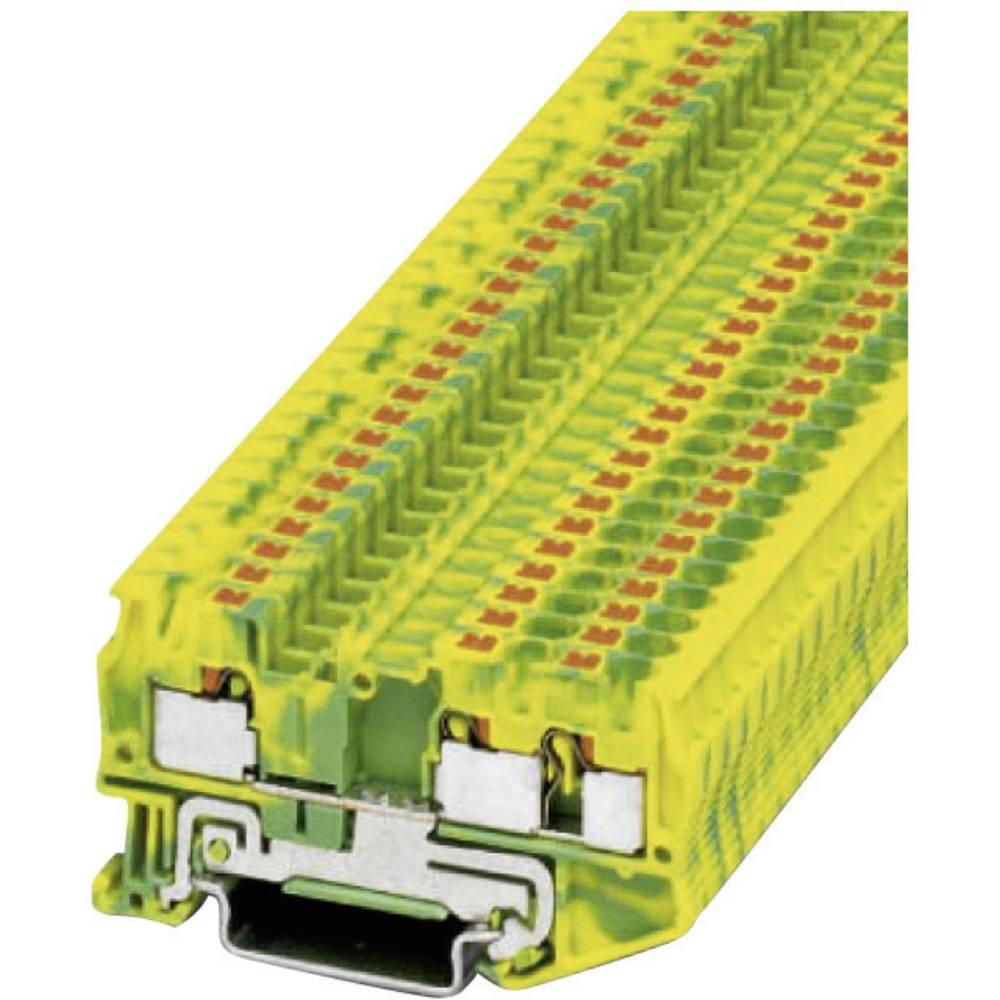 Push-in beskyttelsesleder terminal PT-PE Phoenix Contact PT 4-TWIN-PE Grøn-gul 1 stk