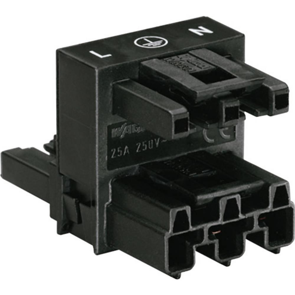 H-strømforsyningsfordeler WAGO 770-635 Samlet poltal 2 + PE Sort 1 stk