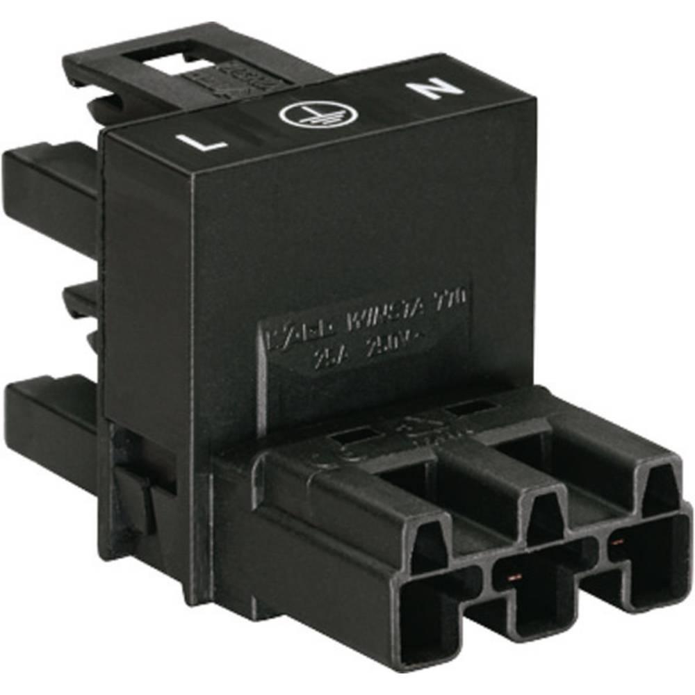 H-strømforsyningsfordeler WAGO Samlet poltal 2 + PE Sort 1 stk