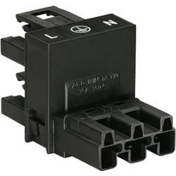 H-strømforsyningsfordeler WAGO 770-636 Samlet poltal 2 + PE Sort 1 stk