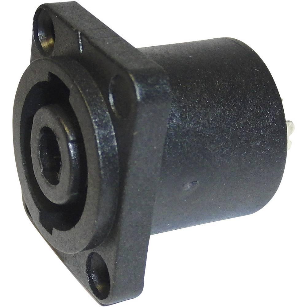 Cliff FM1270-Priključek za zvočnik, raven s prirobnico, število polov: 4, črn, 1 kos