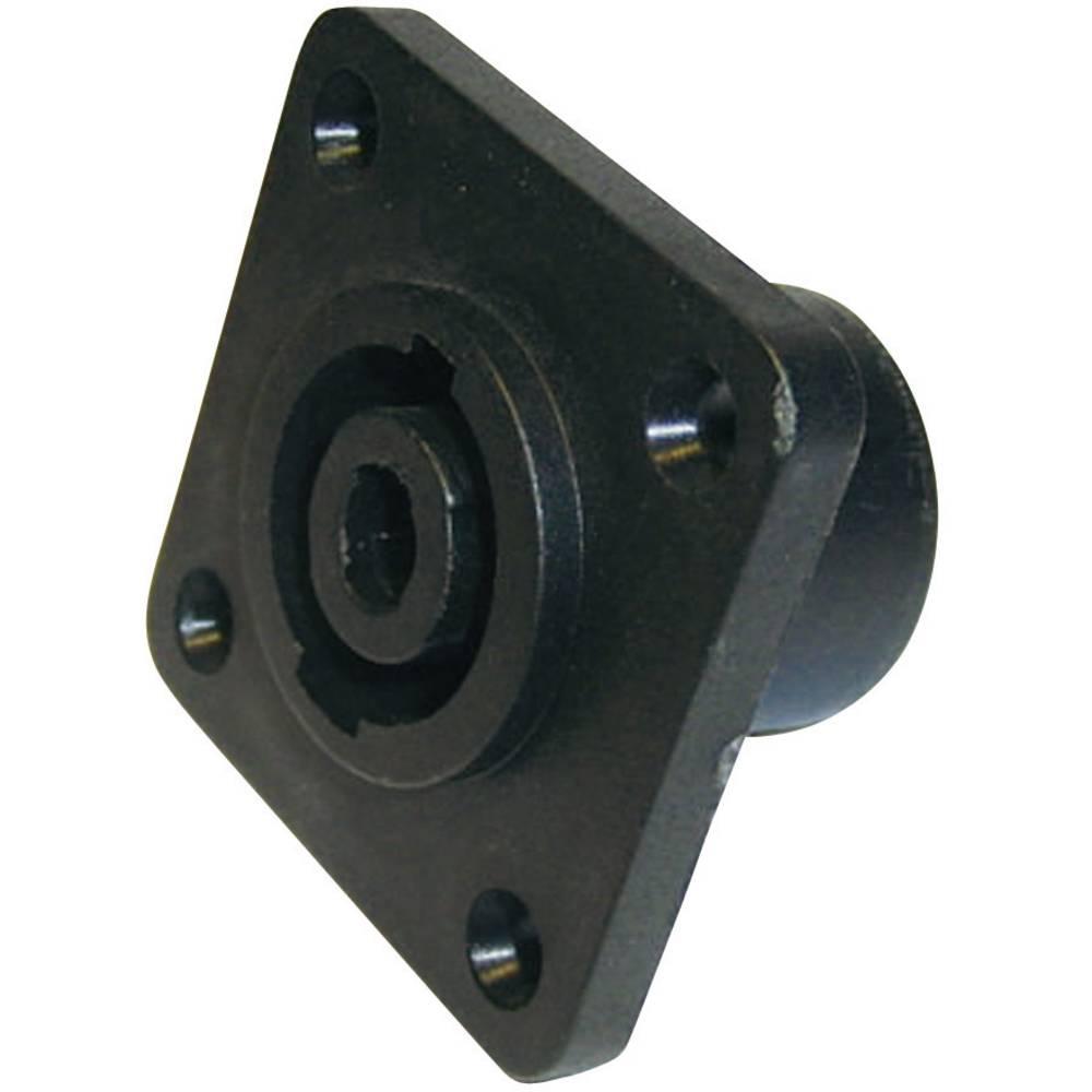 Cliff FM1275-Konektor za prirobnico, ženski, ravni kontakti, število polov: 4, črn, 1 kos
