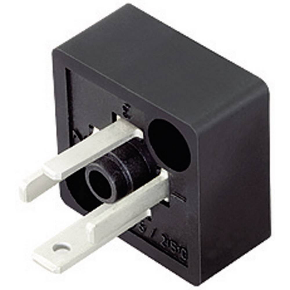 Magnetventil stik byggeri type C Series 230 Binder 43-1907-000-04 Sort 1 stk