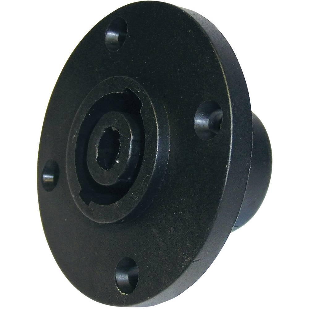 Cliff FM1280-Konektor za prirobnico, ženski, ravni kontakti, število polov: 4, črn, 1 kos