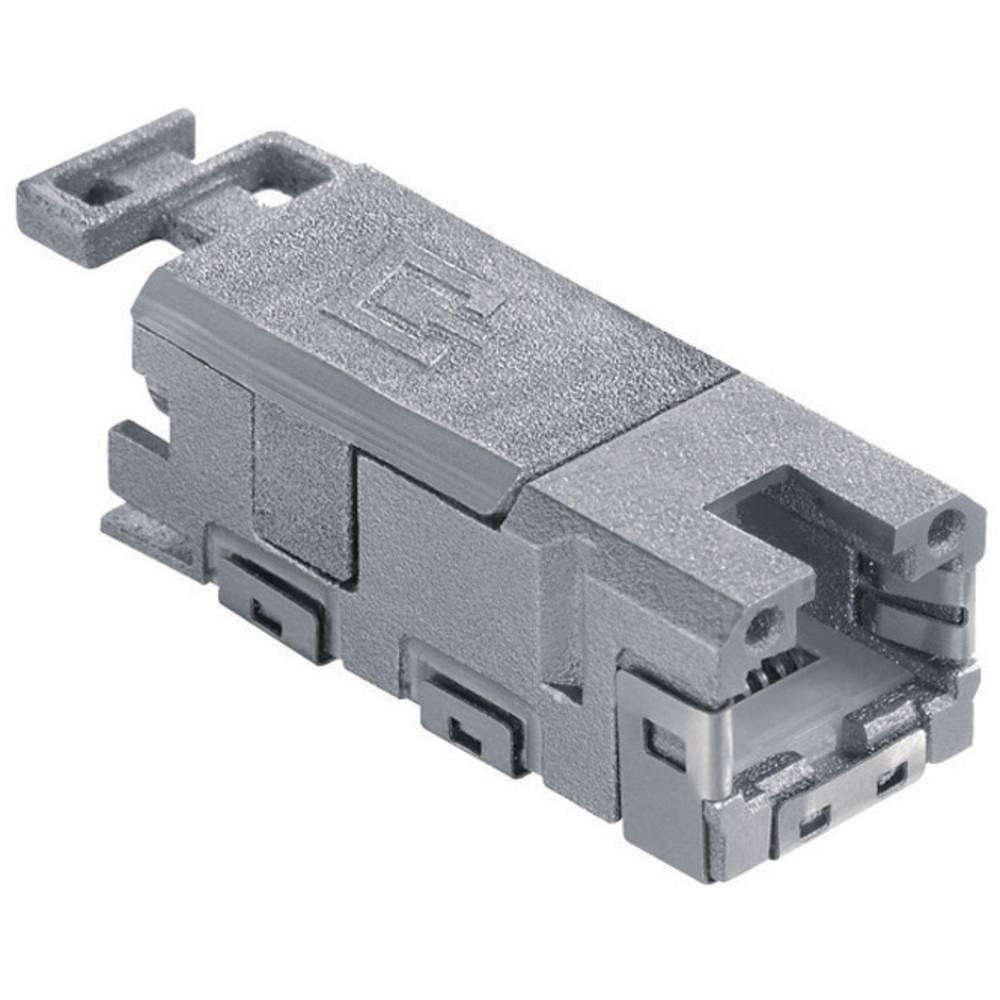 Vgradni ženski konektor RJ45 1401100810MI Siva BTR Netcom