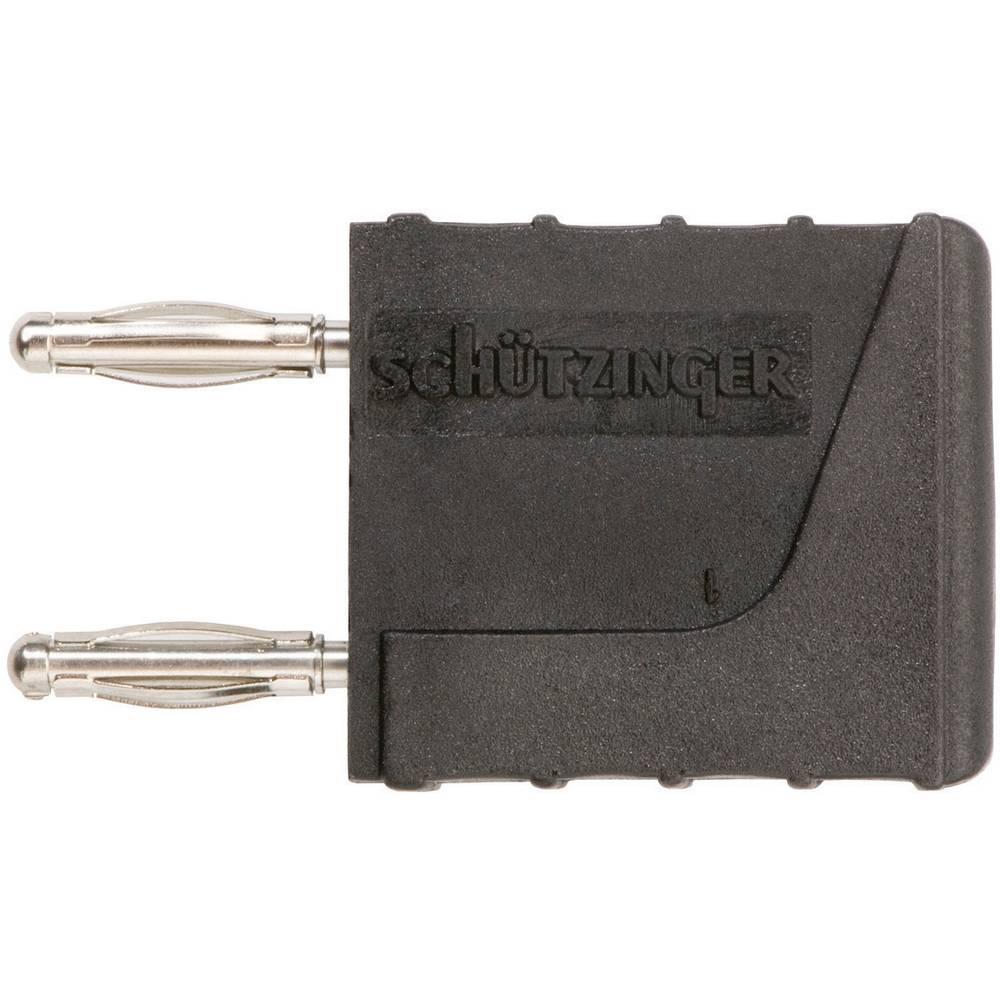 Forbindelsesstik Schützinger KURZ 10 - 2 IG M / SW Stift-diameter: 2 mm 10 mm Sort 1 stk