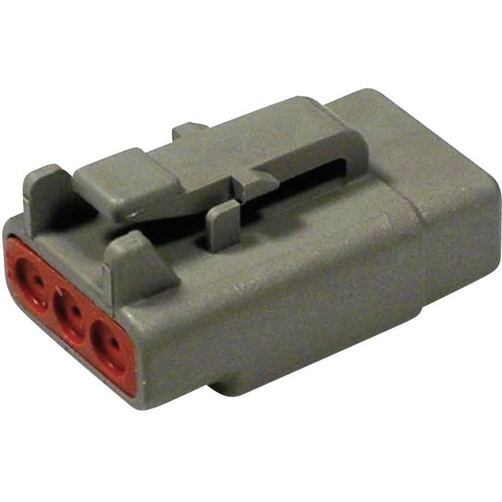 Konektor Deutsch serije DTM, DTM 06-3 S, nazivni tok: 7,5 A,poli: 3, vsebina: 1 kos