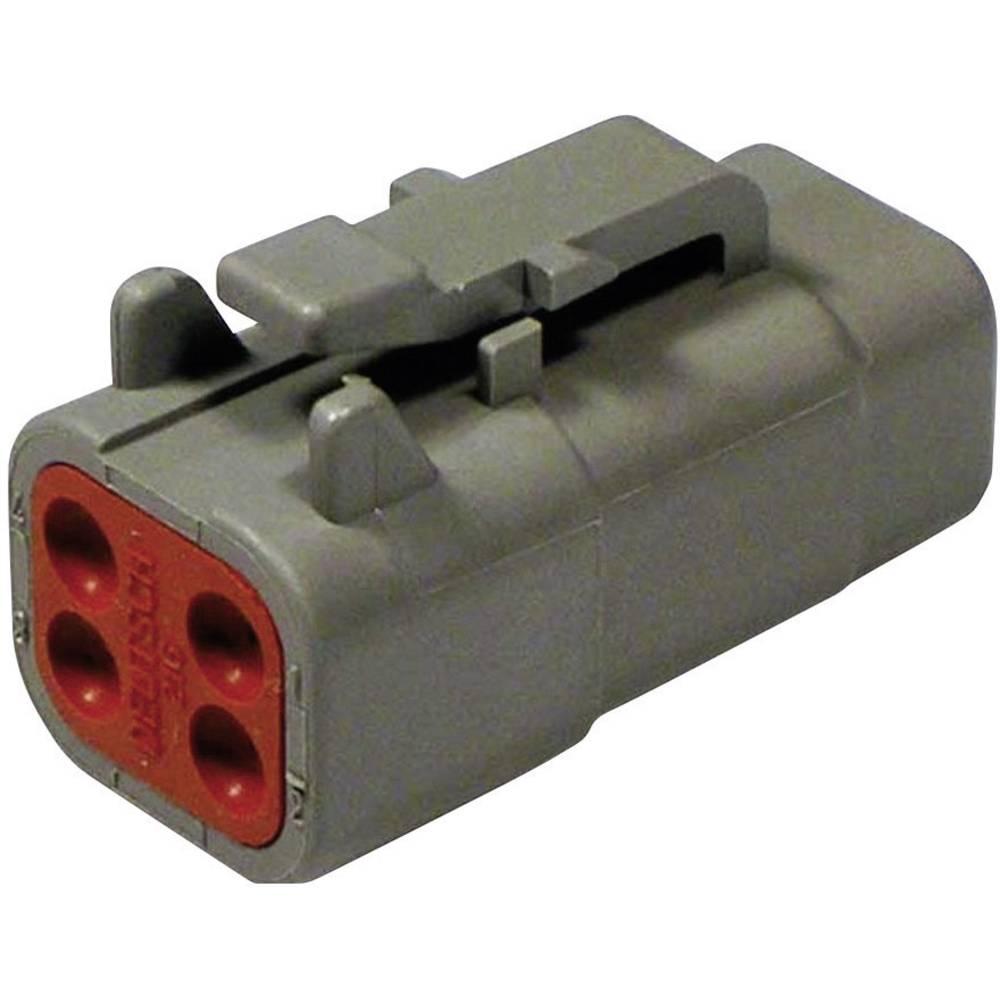 Konektor Deutsch serije DTM, DTM 06-4 S, nazivni tok: 7,5 A,poli: 4, vsebina: 1 kos