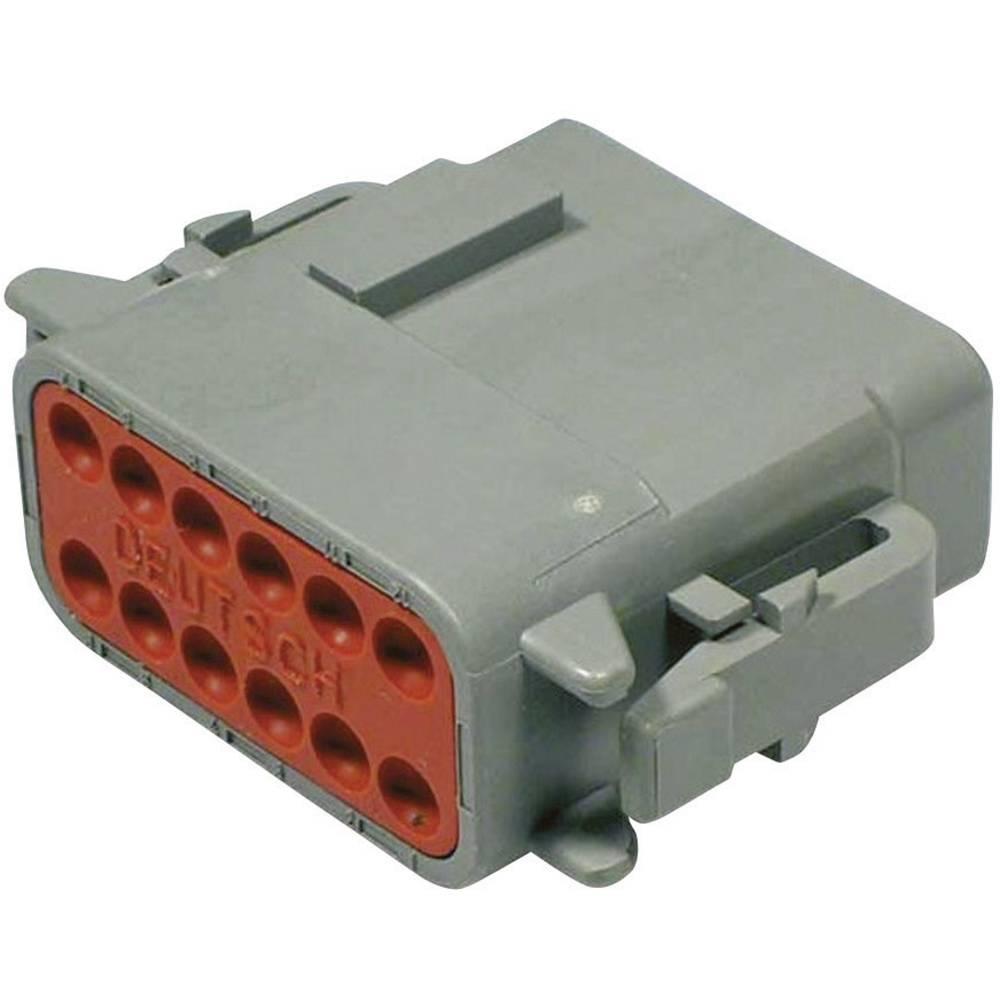 Konektor Deutsch serije DTM, DTM 06-12 SA, nazivni tok: 7,5A, poli: 12, vsebina: 1 kos