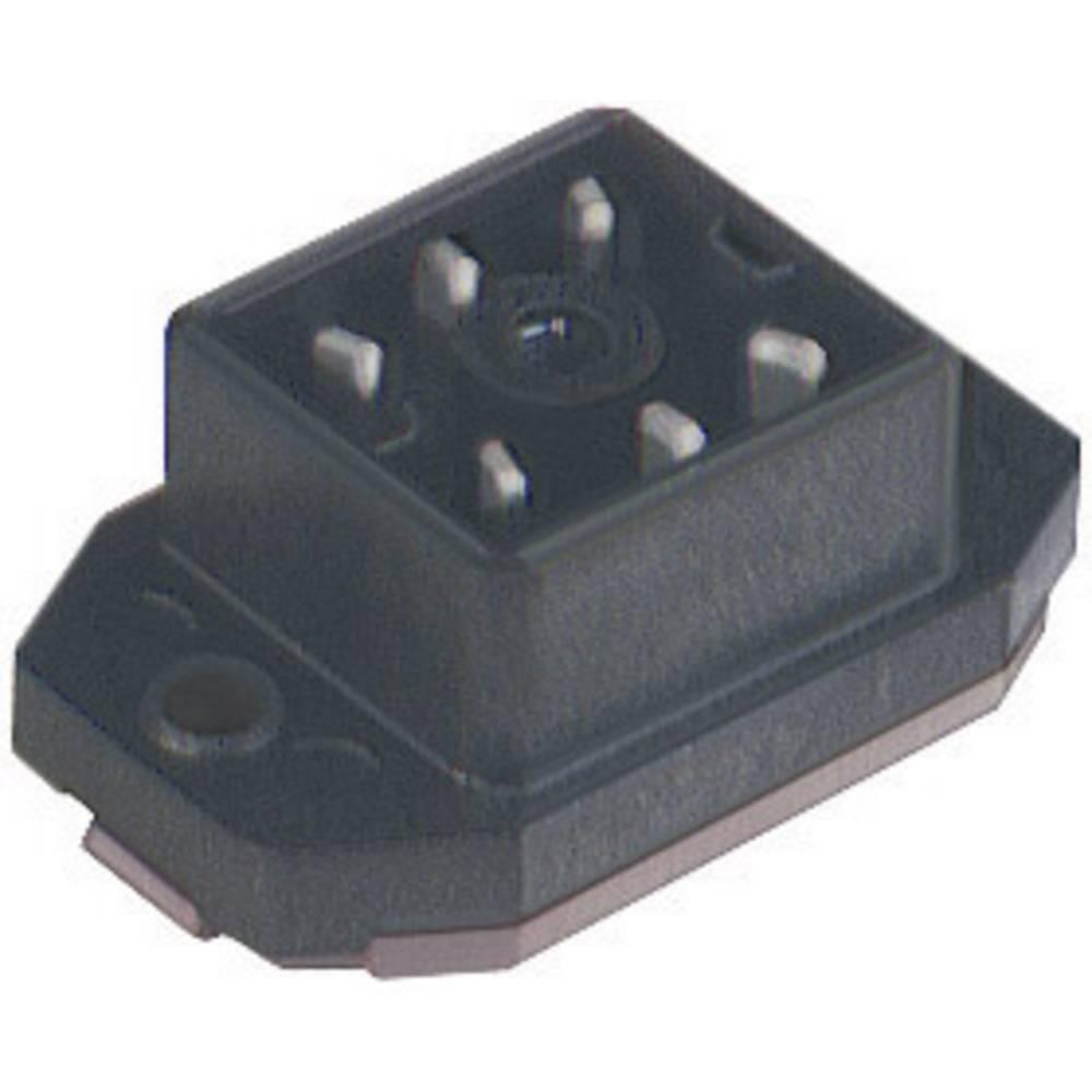 Monteret stik med flange og loddekontakter Hirschmann GO 60 FAV M 6 Sort 1 stk