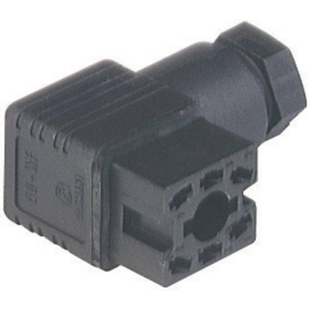 Kabelfatning med PG 7 kabelforskruning og loddekontakter Hirschmann GO 60 WF 6 Sort 1 stk