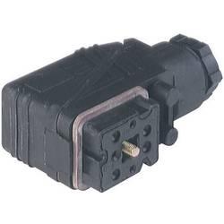 Ledningsdåse med M16-ledningsforskruning og skruekontakter Hirschmann GO 610 WF 6 + PE Sort 1 stk