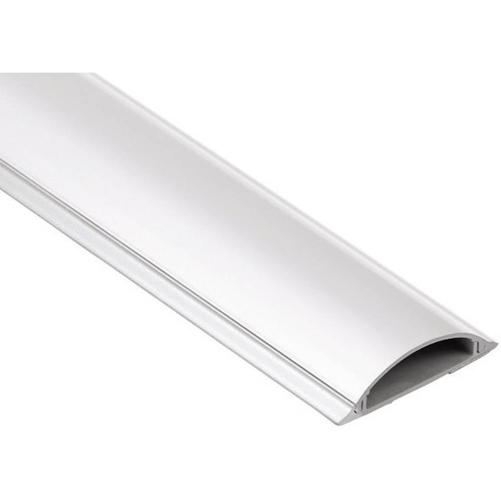 PVC-kabelski kanal, polkrožni, primeren za:: max. 8 kablov do 17-mm-- bele barve Hama vsebuje: 1 kos