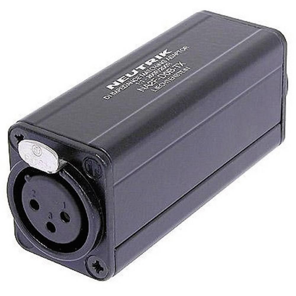 Neutrik NA2F-D0B-TX-Mini adapter, 3-polni ženski XLR-konektor na ženski činč konektor, 1 kos