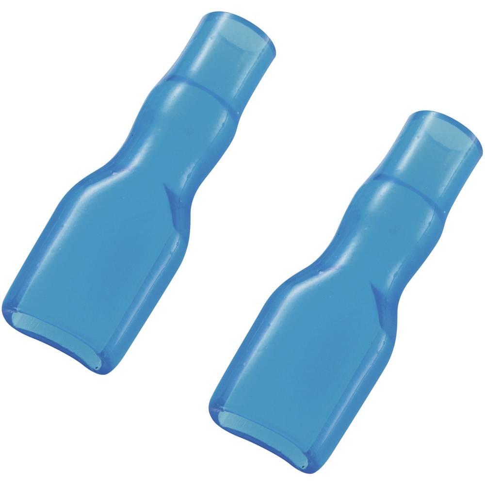 Izolacijska čahura od mekanogPVC-ja za plosnati utikač, plava