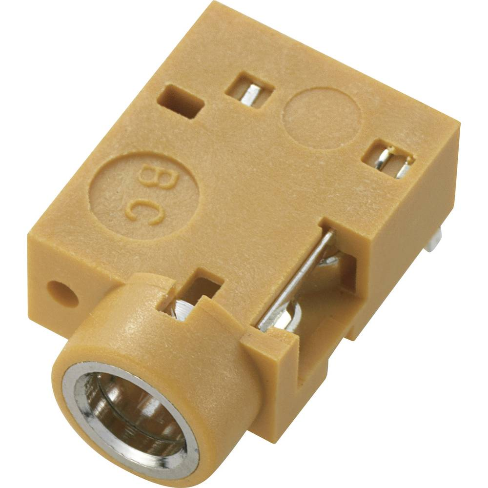 Vgradni banana konektor 3,5 mm, izvedba za tiskana vezja, rjavi, 90 stopinj, št. polov=3 /