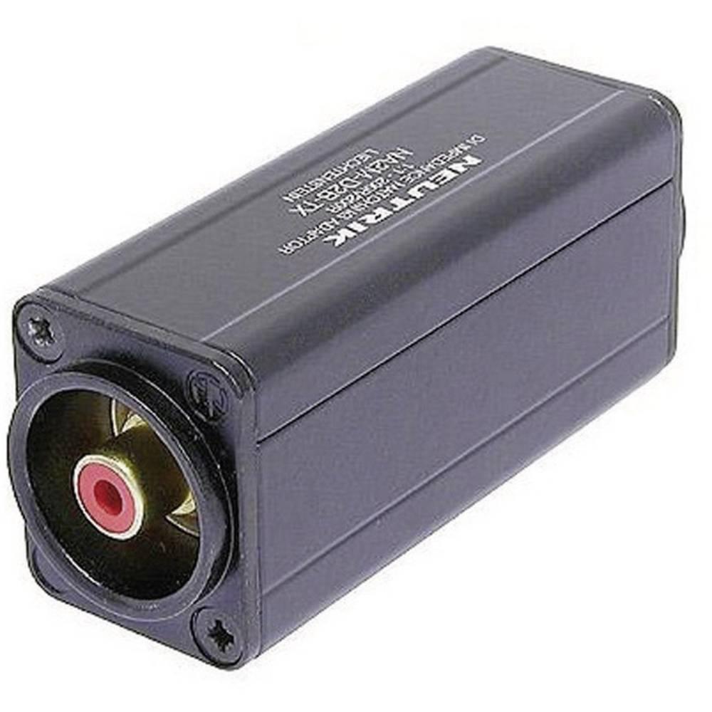 Neutrik NA2M-D2B-TX-Mini adapter, 3-polni moški XLR-konektor na ženski činč konektor, 1 kos