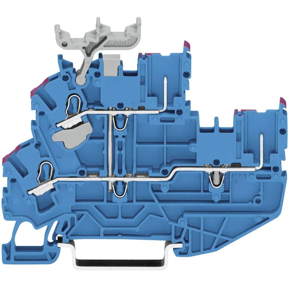 Dobbeltlags-basisklemme 5.20 mm Trækfjeder Belægning: N Blå WAGO 2022-2239 1 stk