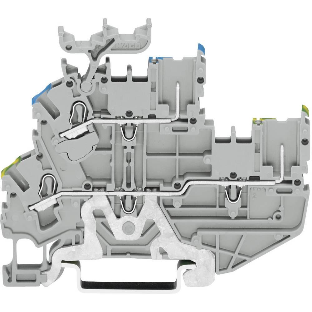 Dobbeltlags-basisklemme 5.20 mm Trækfjeder Belægning: Terre, N Grå WAGO 2022-2247 1 stk