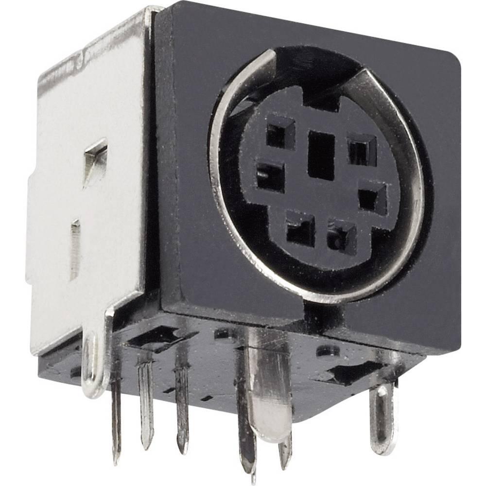 BKL Electronic 0204048-Krožna DIN vtičnica, za horizontalno vgradnjo, število polov: 4, črna, 1 kos