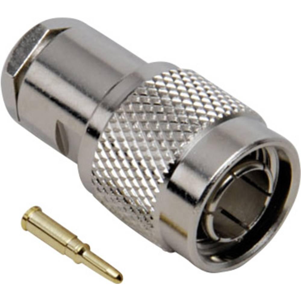 TNC moški konektor BKL Electronic 405020/D, raven, ponikl. medenina, kompresijska uvodnica