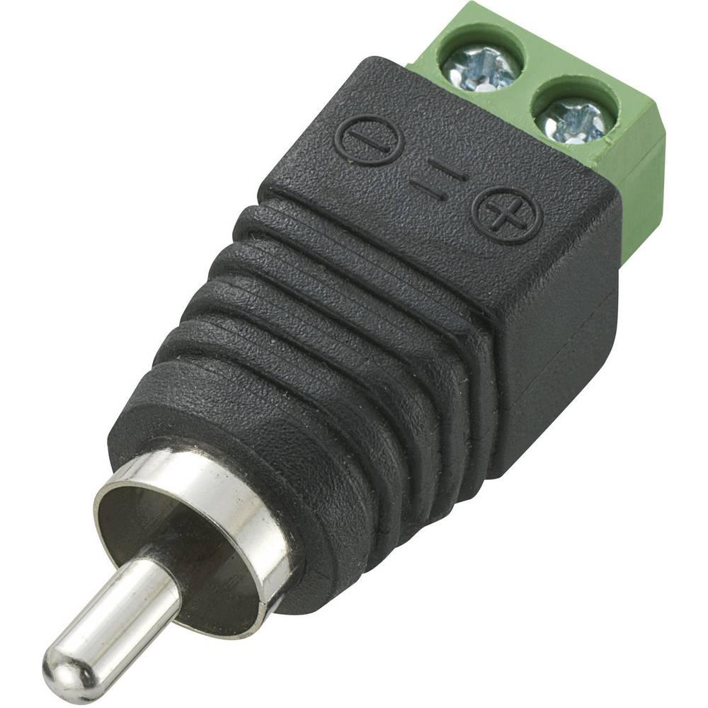 Cinch konektor, vijačni priklop LT-RAC-DC, črni, Conrad 93014c315