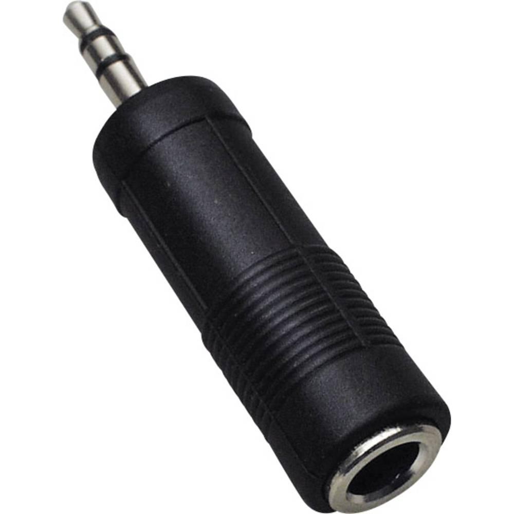 Klinken avdio adapter [1x klinken vtič 3.5 mm - 1x klinken vtičnica 6.35 mm] črne barve BKL Electronic