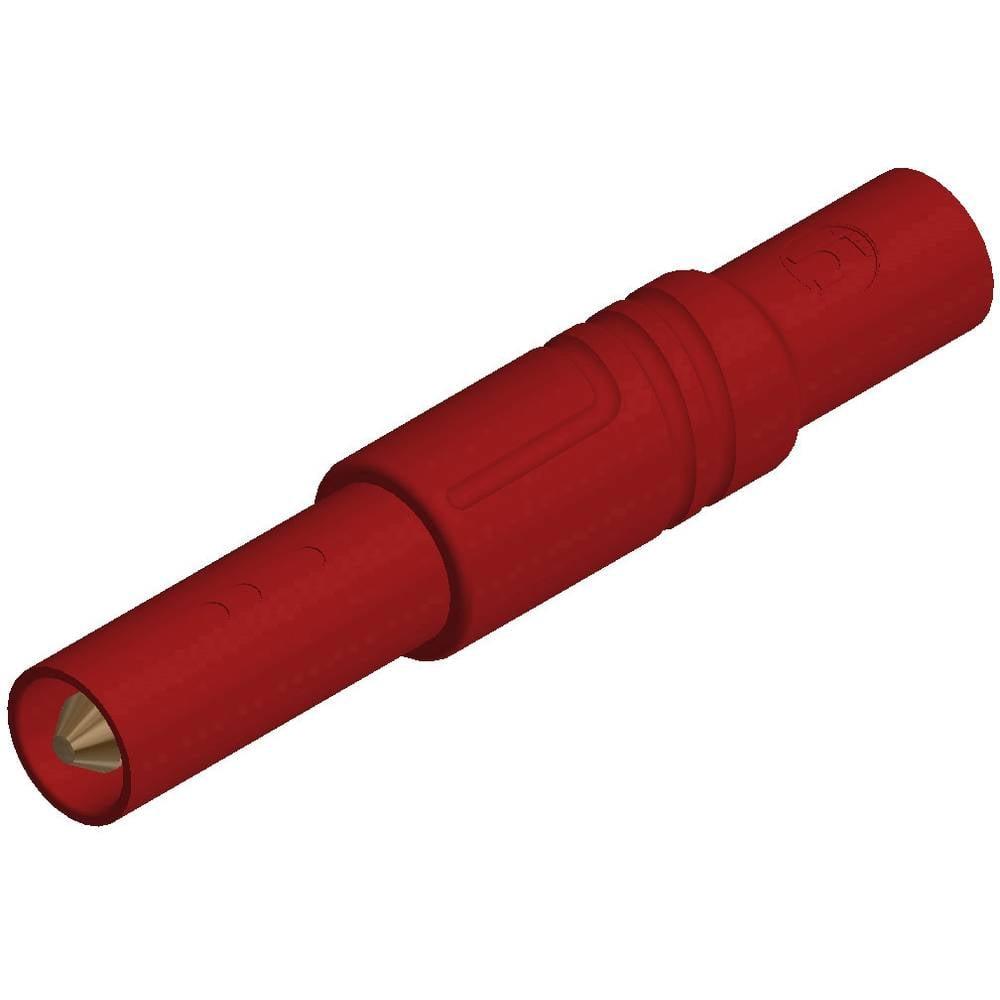 Sikkerhedslamelstik Stik, lige SKS Hirschmann LAS S G 4 mm Rød 1 stk