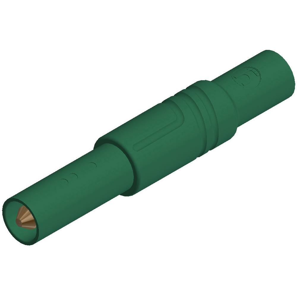 Sikkerhedslamelstik Stik, lige SKS Hirschmann LAS S G 4 mm Grøn 1 stk